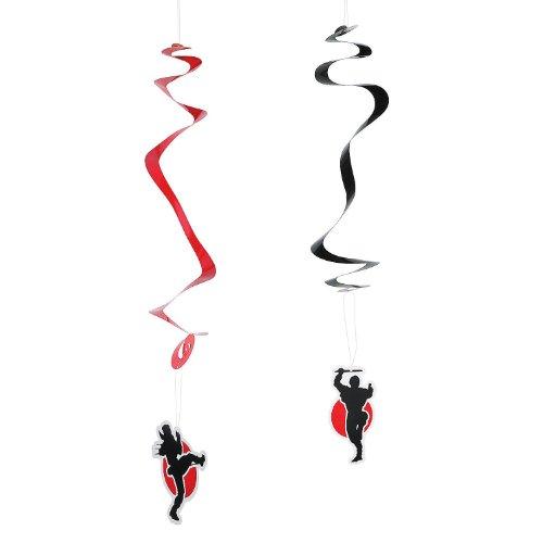 Ninja Warriors Hanging Swirls - 12 ct (Ninja Birthday Banner compare prices)