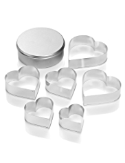 6 Heart Cookie Cutters