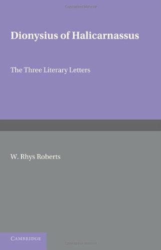 Dionysios von Halicarnasssus: die drei literarischen Buchstaben