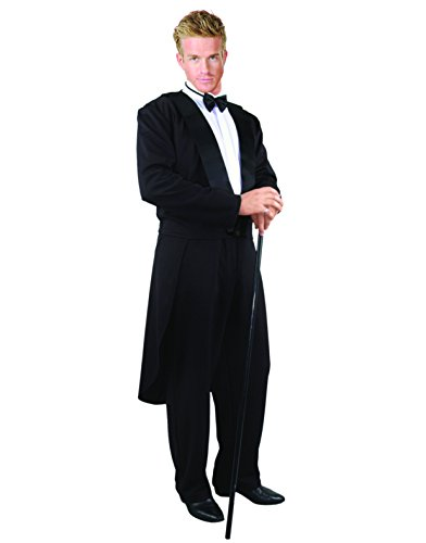 Adult Mens Formal Tuxedo Magician Butler Jacket Pants Costume Costume