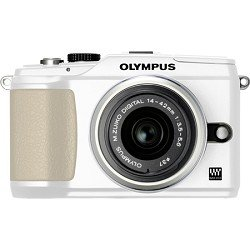 Olympus PEN E-PL2 12 MP CMOS Micro Four Thirds Interchangeable Lens Digital Camera with 14-42mm Lens (White)