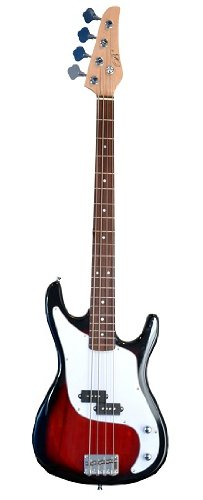 "Full Size Red 46"" Principal P Electric Bass Guitar With Bass Amplifier & Gig Bag And Accessories Black (Includes, Amp, Strap, String, & Directlycheap(Tm) Translucent Blue Medium Guitar Pick)"
