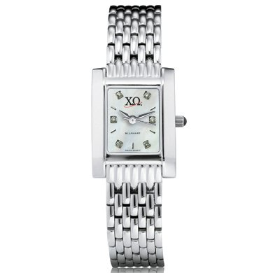 Chi Omega Women's Mother of Pearl Quad Watch with Diamonds & Bracelet (Chi Omega Watch compare prices)
