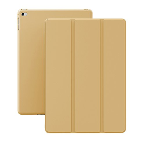 iPad Air 2 Case (iPad 6) - KHOMO DUAL Super Slim Gold Cover with Rubberized back and Smart Feature (Built-in magnet for sleep / wake feature) For Apple iPad Air 2 Tablet (Ipad Air 2 Khomo Dual compare prices)