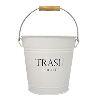 InterDesign Pail Wastebasket Trash Can, White