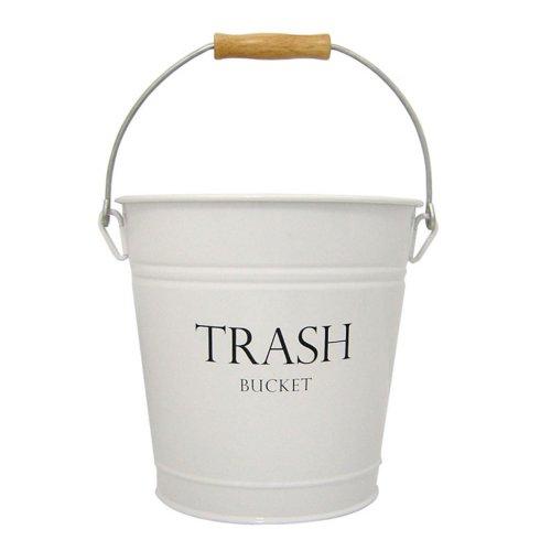 InterDesign Pail Wastebasket Trash Can, White
