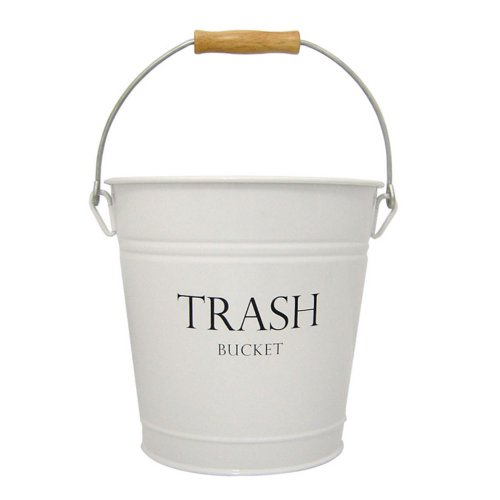 InterDesign Pail Wastebasket Trash Can, White (Decorative Trash Can compare prices)