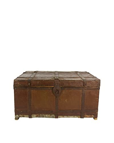 Uptown Down Wooden Trunk with Iron Details