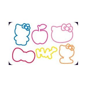 """Hello Kitty Silly Bandz (The Original) 24-Pack + Free """"Forever Carabina"""" To Carry Your Hello Kitty Bandz!!!"""