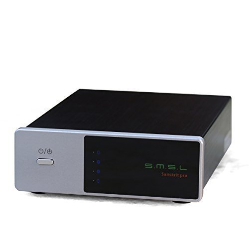 SMSL Sanskrit Pro-B 32bit/384kHz Optical/Coaxial/USB/Bluetooth to Analog DSD multifunctional Hifi Decoder (Silver) by SMSL [並行輸入品]