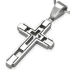 stainless steel cross presence