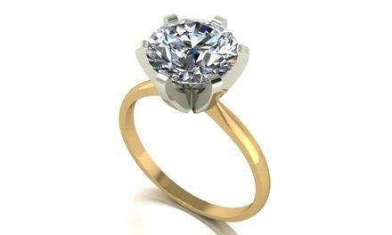 Moissanite 18ct Yellow Gold 3.00 Carat Solitaire Ring - Zoe Kay Jewellery
