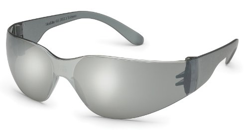 Starlite Sm Safety Glasses - Gray Temple - Silver Mirror Lens front-947995