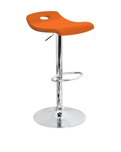 LumiSource Surf Bar Stool, Orange