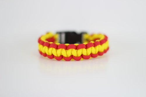 Marine Red and Yellow Paracord Bracelet - 7 Inches