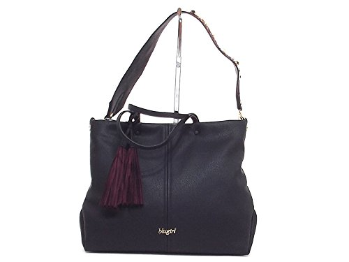 Blugirl donna, 830002, borsa a mano e spalla, ecopelle nera A6102