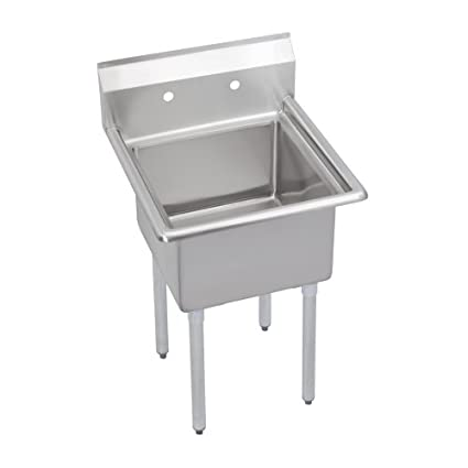 "Elkay SE1C18X18-0X Stainless Steel Super Economy Sink with 1 Compartment, 23"" Length x 23-11/16"" Width x 43-51/64"" Height"