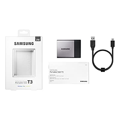 Samsung T3 Portable 2 TB USB 3.0 External SSD MU-PT2T0B AM