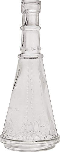 Luna Bazaar Small Vintage Glass Bottle Set (7-Inch, Clear, Set of 6) - Flower Bud Vases Bulk - For Home Decor and Wedding Centerpieces 2