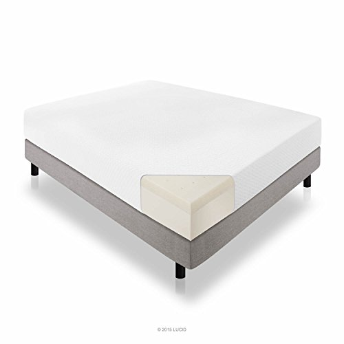 LUCID 10 Inch Latex Foam Mattress - Ventilated Latex and CertiPUR-US Certified Foam - 25-Year Warranty - Queen