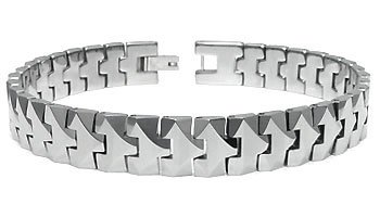 Tungsten Carbide 10MM Men's Link Bracelet Sz 8