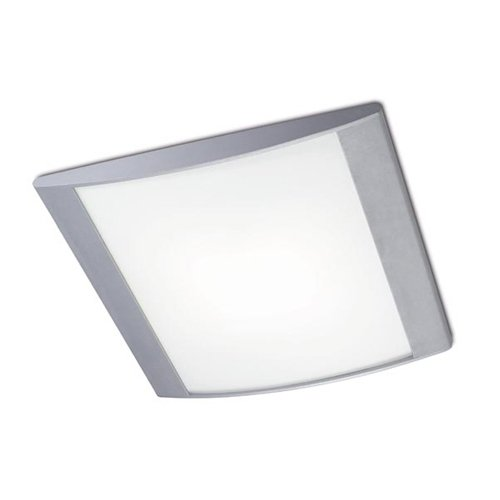 Leds C4 Indoor Lighting Alpen 350 Satin Glass Ceiling Fixture, Grey