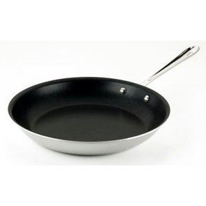 All-Clad BD55108 NS R2 Brushed d5 Stainless Steel 5-Ply Bonded Dishwasher Safe Nonstick Fry Pan / Cookware