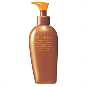 Shiseido Brilliant Bronze Quick Self Tanning Gel (for Face and Body) Gel for Unisex, 4.2 Ounce
