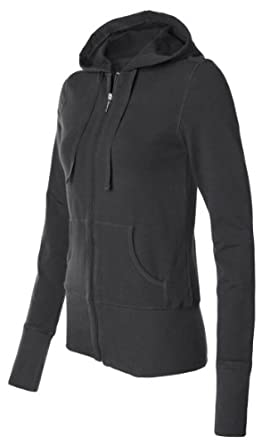 Bella Canvas Ladies' Stretch French Terry Lounge Jacket - BLACK - S