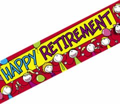 HAPPY RETIREMENT BANNER 2.6M