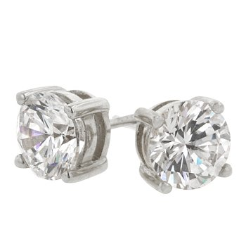 Clear Classic Studs 6.25mm Earrings