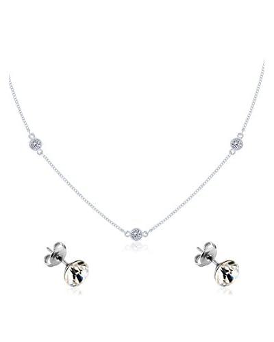 Diamond Style Conjunto de cordón y pendientes Dew Drop