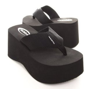 Soda Women'S Foam Platform Thong Flip Flop Beach Sandals Black Size 11 front-177013