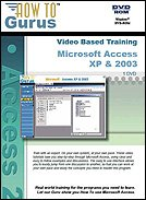 Microsoft Access XP & 2003 Tutorial Training on DVDRom. 7 hours of video training in 85 lessons, new computer software instruction