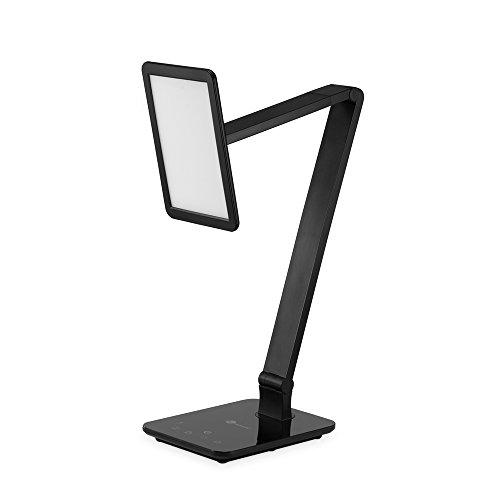 Lampada da Tavolo TaoTronics Lampada LED da Scrivania (Carica USB, Eye-Friendly, Luminosità Dimmerabile, Controllo Temperatura) - Nero