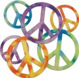 Stick It Felt Shapes 24/Pkg-Peace Signs - 1