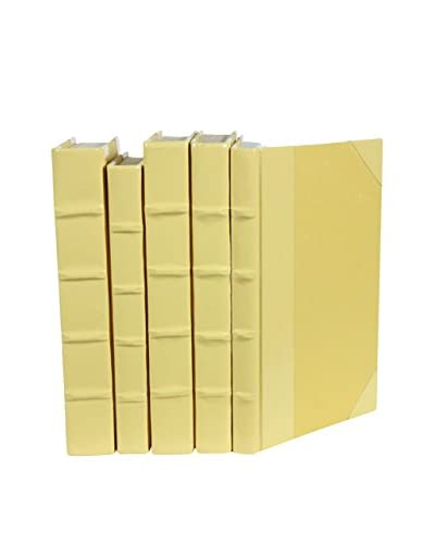 Set of 5 Patent Leather Books, Yellow
