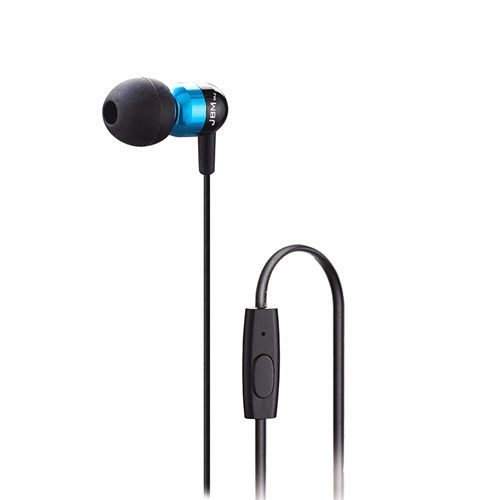 Iclover Jbm Mj-A8 Super Bass Smart Earphone Noise Cancellation Stereo In-Ear Earphones Headphones 3.5Mm With Controller With Microphone For Cellphone Samrtphone Mp3 Mp4 Ipad (Blue)