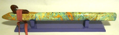 Native American Painted Flute - One of a Kind - Stunning Beautiful - key Low C#