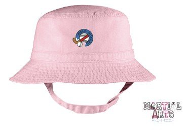 Embroidered Infant Bucket Cap with the image of: martial arts kid