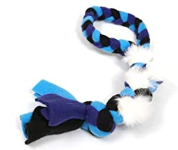 Genuine Dog Gear Large Dog Rope Tug/Pull- Real Rabbit Fur and Fleece-Visual, Taste and Smell Motivator