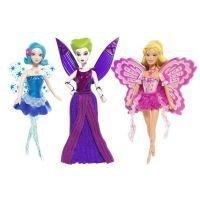 Barbie Fairytopia Magic of the Rainbow Mini Dolls 3 Pack include Laverna, Elina, and Azura appx 4