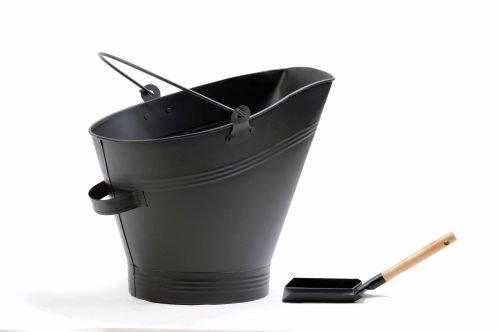Black Iron Ash Cleaning Bucket or Coal Storage Bucket with Shovel By Boone Hearth (Wood Stove Bucket compare prices)