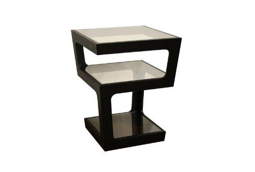 Cheap Baxton Studio Clara Black Modern Tall 3-Tiered End Table (CT-089B-BLACK)