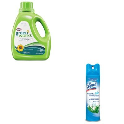 Kitcox30319Rac76938Ea - Value Kit - Clorox Naturally Derived Liquid Laundry Detergent (Cox30319) And Neutra Air Fresh Scent (Rac76938Ea) front-605785