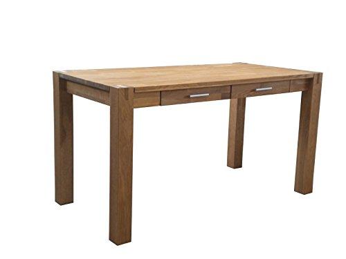 SAM-Esszimmer-Holztisch-Okay-3814-140-x-70-cm-rechteckiger-Esstisch-aus-massiver-gelter-Wildeiche-mit-zwei-Schubladen-Tisch-im-zeitlosen-Design