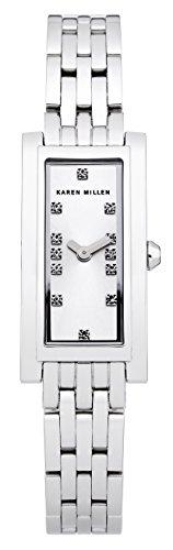 Karen Millen KM120SM - Orologio da polso da donna, cinturino in acciaio inox colore argento