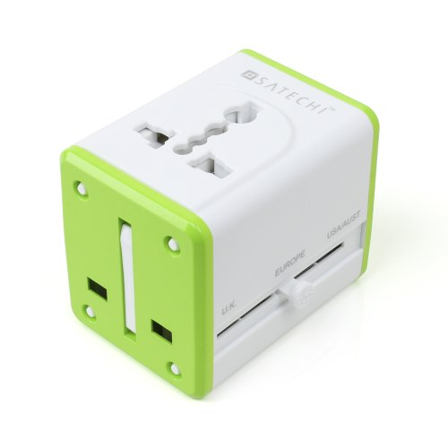 Satechi Smart Travel Adapter With Usb Port For Charging Ios, Android, Windows, Blackberry, Mp3 Devices, And More In Us, Ca, Mx, Uk, Eu, Au, Nz, Hk, And China (Basic)