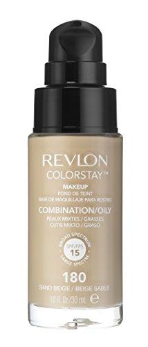 REVLON, Fondotinta Colorstay per pelli grasse, flacone con dispenser, 30 ml, N° 180 Sand beige