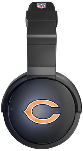 Ihip Nfh44Chb Official Nfl Chicago Bears Pro Dj Led Light-Up Logo Headphones